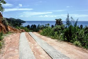 La route de la plage